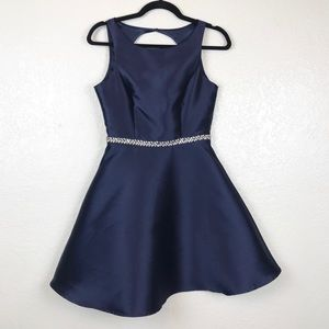 Minuet Royal Blue Formal Hoco Dress Size Small